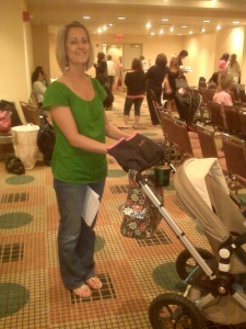 Mommy Mitten on stroller